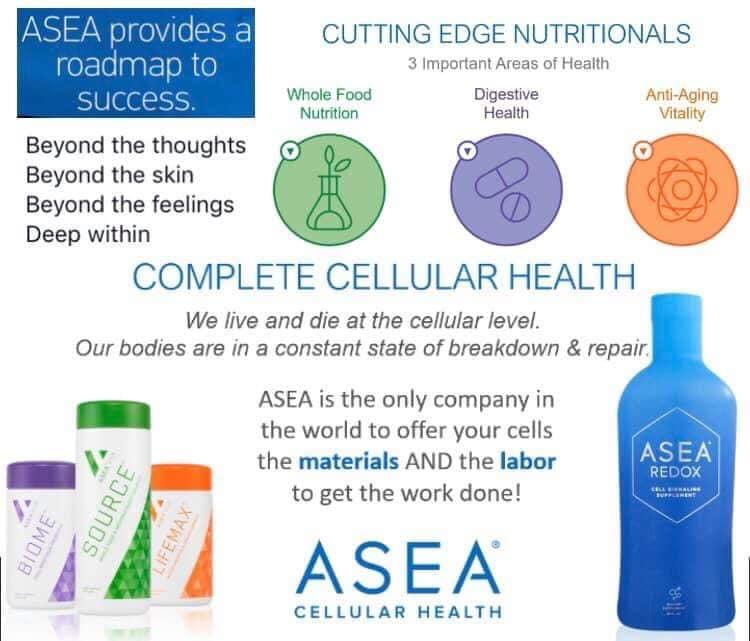 ASEA redox nutrition complete cell health roadmap materials labor